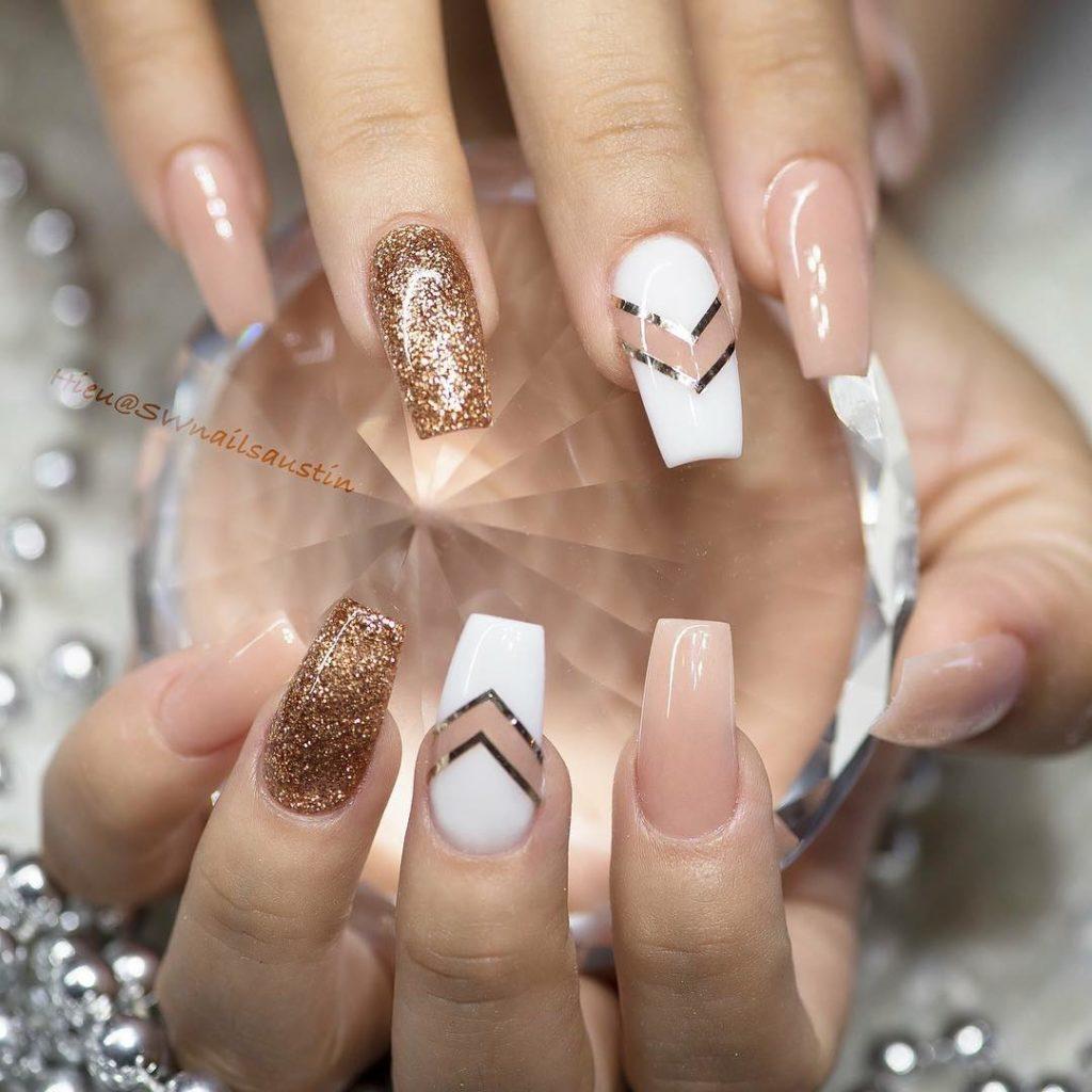 10 Impressive Coffin Nails - Ballerina nail designs - Gazzed