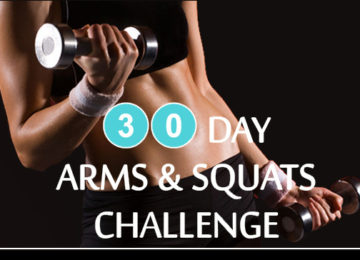 30 Day Arms and Squats Challenge – Dumbbell Push-up, Squat and Overhead Press