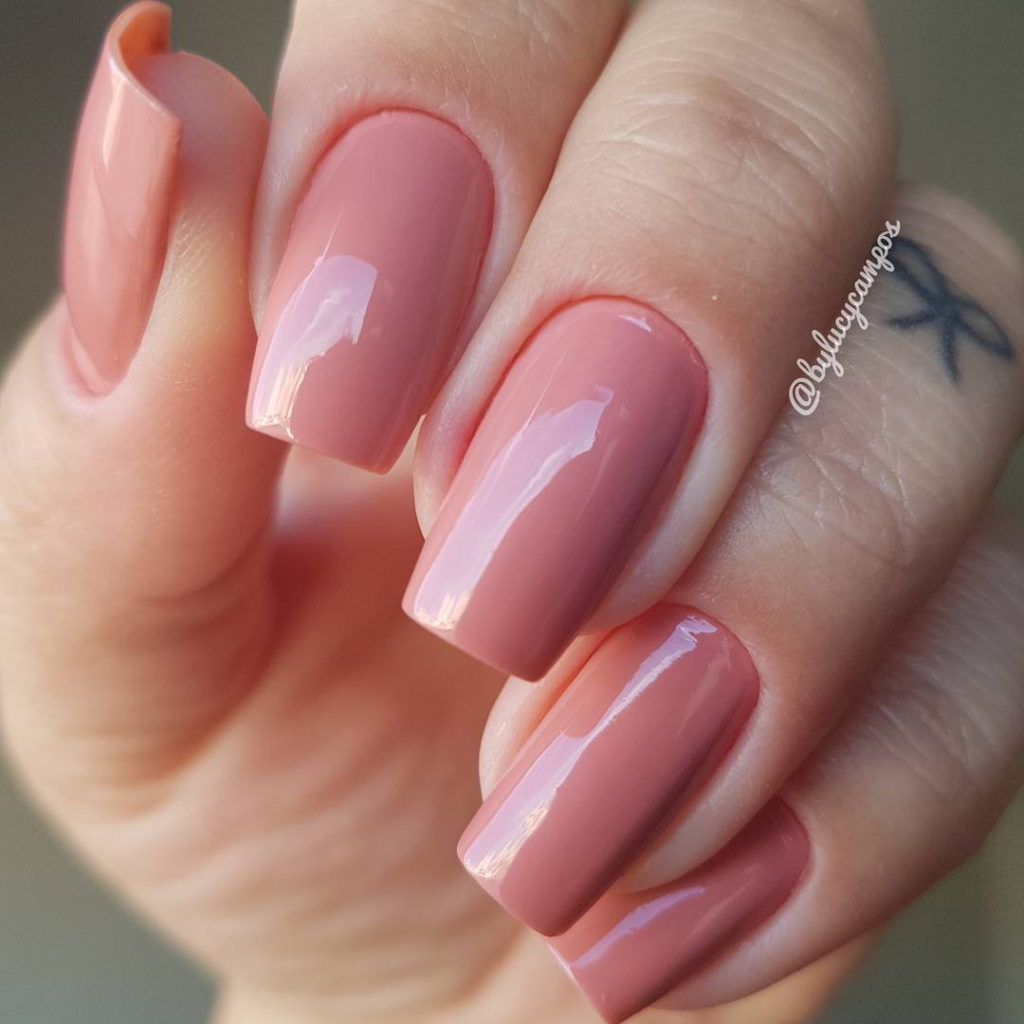 Beautiful Baby Pink Acrylic coffin nails