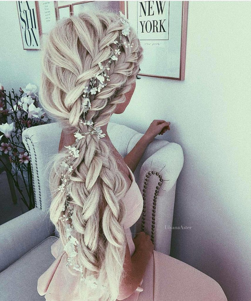 27 Gorgeous Wedding Hairstyles For Long Hair For 2020: Braided Hairstyles For Summer