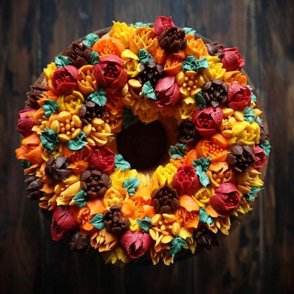 Fall themed cake @iambaker