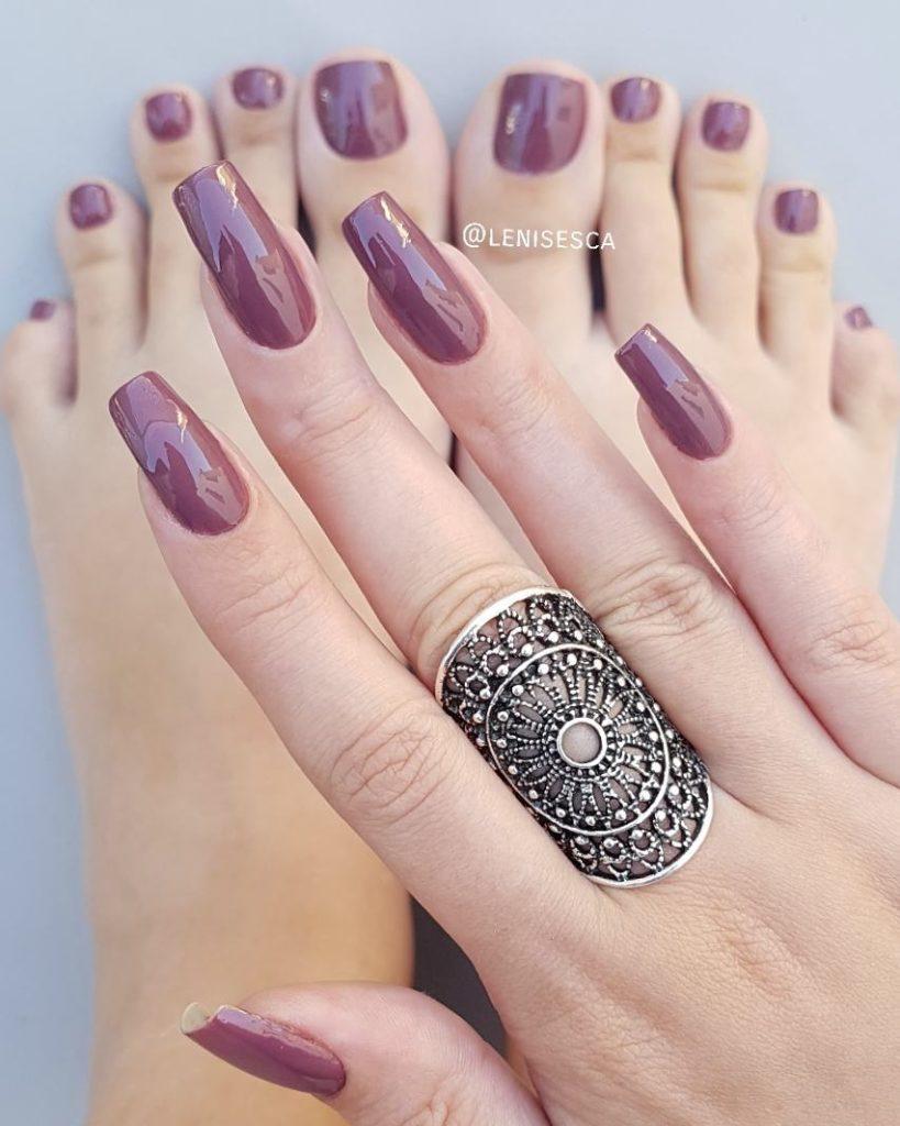 Grunge Esmalate Insta hand and toenails