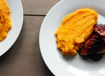 Honey Soy Chicken With Sweet Potato Mash