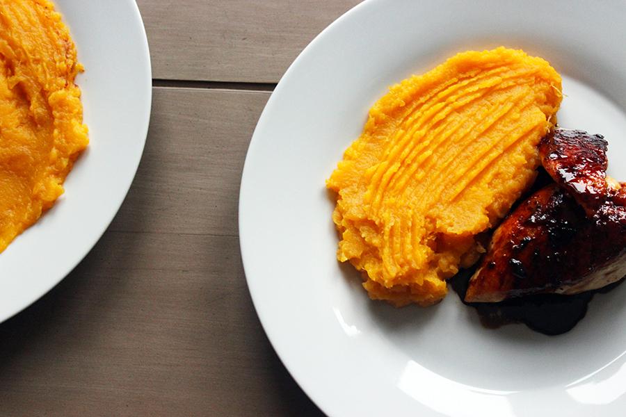Honey Soy Chicken With Sweet Potato Mash Gazzed
