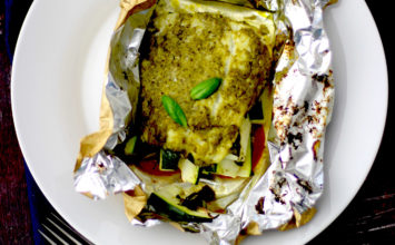 Pesto Cod Fillet Parcel – Fish recipe under 200 calories