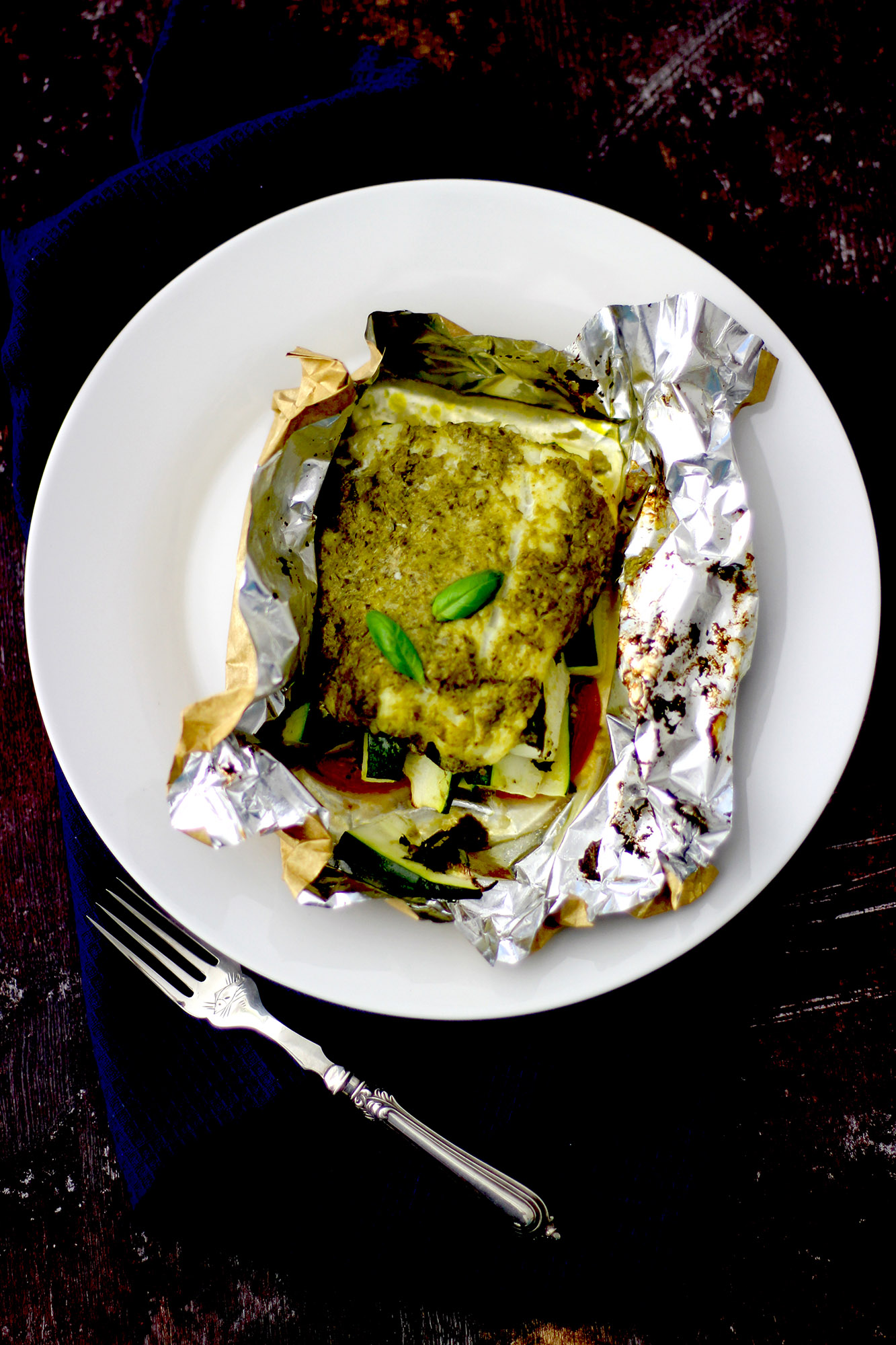 Pesto Cod Fillet Parcel Fish Recipe Under 200 Calories