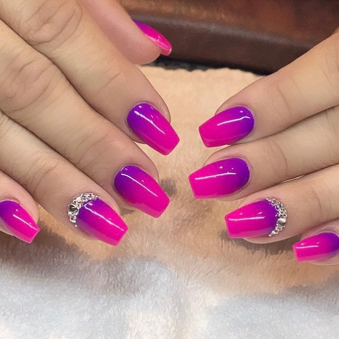 The Best 12 Ombre Nail Art French Fades Unicorn And More Gazzed