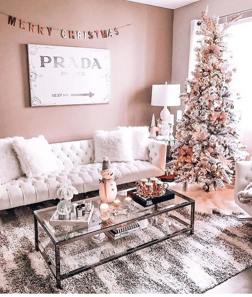 Pink copper tree decorations @bubbleroom