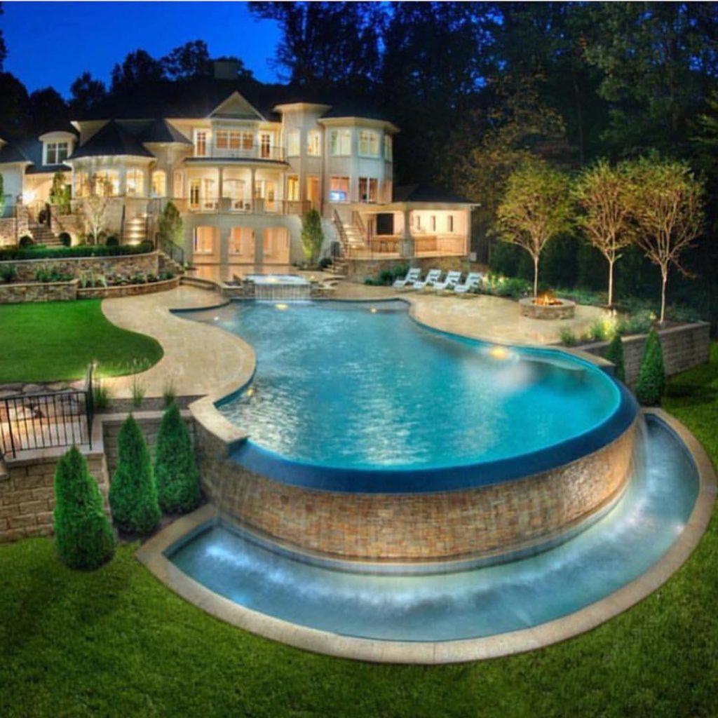 Pool Mansion Design