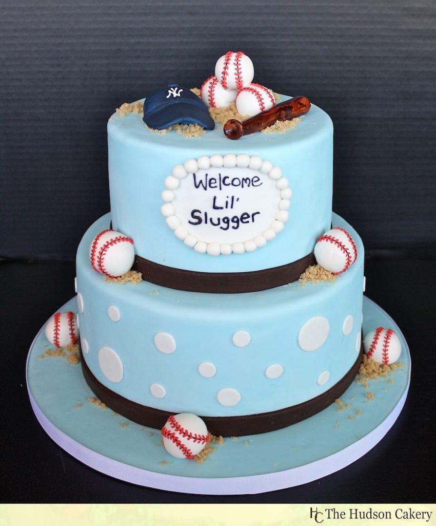 For baseball lovers baby shower cake
