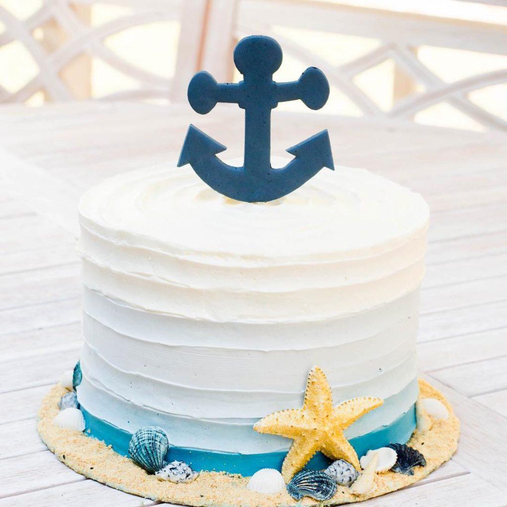 Nautical cake for baby boy @elizwegner