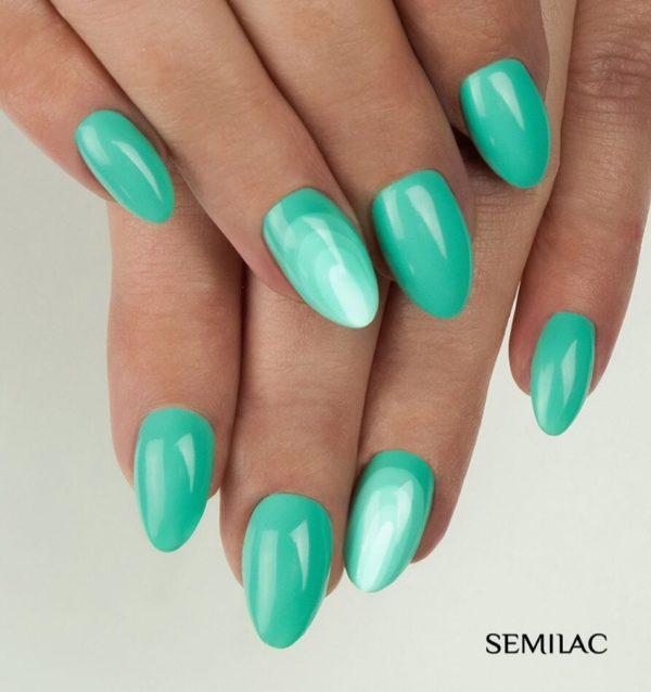 summer semilac nails