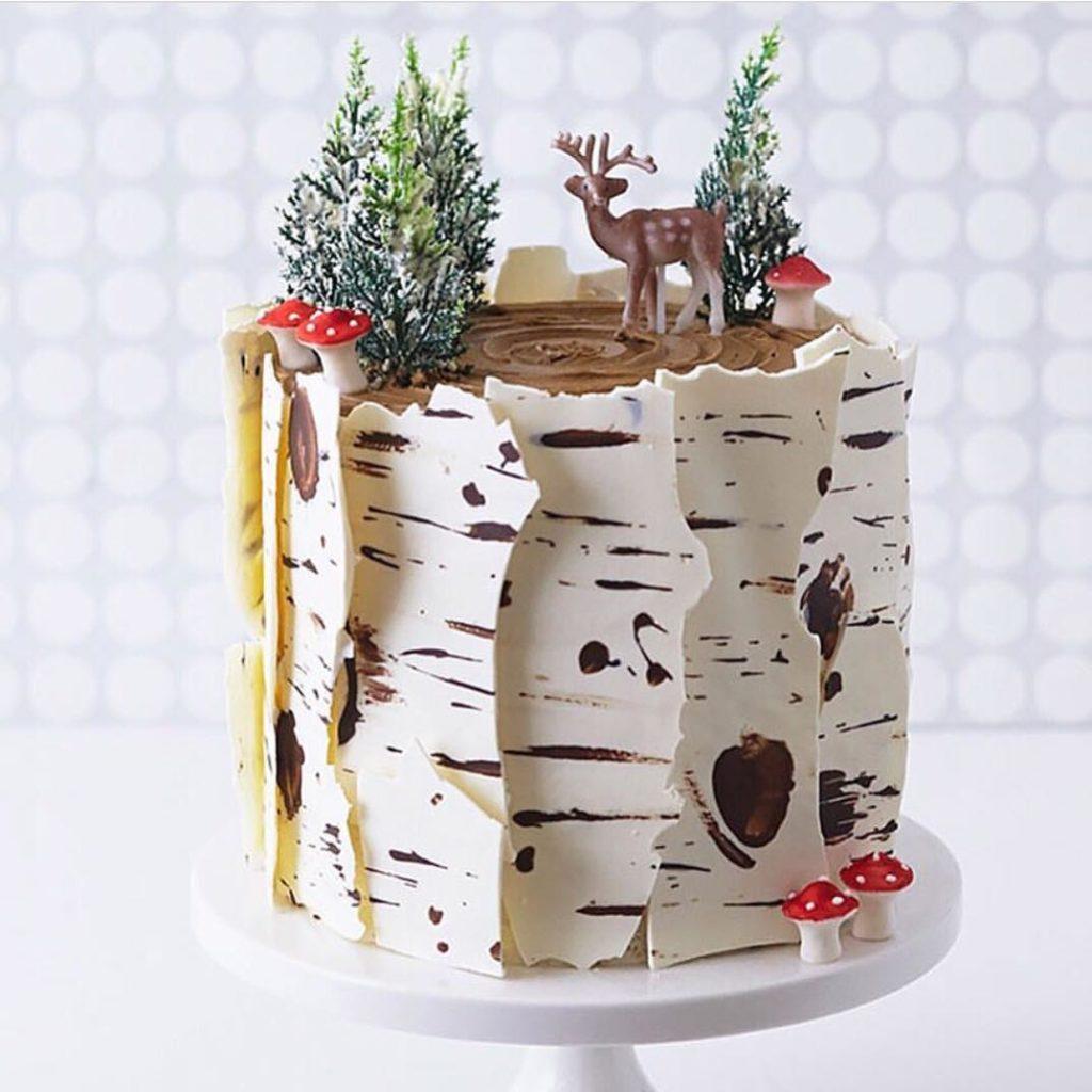 Winter wonderland christmas cakes @momlovesbaking